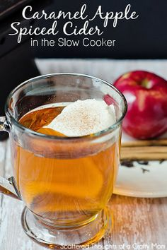 Knock-off Starbuck's Caramel Apple Spiced Cider From: Scattered Thoughts Of A Crafty Mom, please visit Apple Cider Drink, Spiced Cider, Copycat Recipes, Crockpot Recipes, Cooking Recipes, Spiced Apples, Caramel Apples, Refreshing Drinks, Yummy Drinks