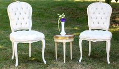 Bridal Bliss Wedding: Swanky modern, yet vintage lounge chairs