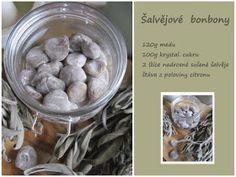 PASTU domov: Šalvějové bonbony při nachlazení a bolesti v krku Blueberry, Cereal, Homemade, Fruit, Breakfast, Smoothie, Presents, House, Candy