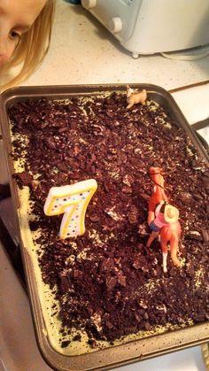 Goat tying birthday cake