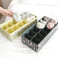 underpant organizer socks box underware storage clothes organizers divided cells