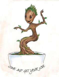 Dancing Baby Groot by PanduhInk on Etsy