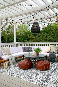 Outdoor Spaces, Outdoor Living, Outdoor Rugs, Outdoor Decor, Pergola, Gazebo, Backyard Patio Designs, Patio Ideas, Back Patio