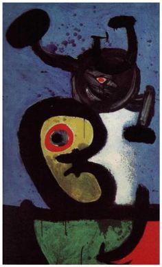 Character and Bird in the Night - Joan Miro 1967