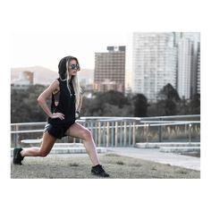 SUPER HOT Tatjana Mariposa works all black errythang in #MissguidedActive.