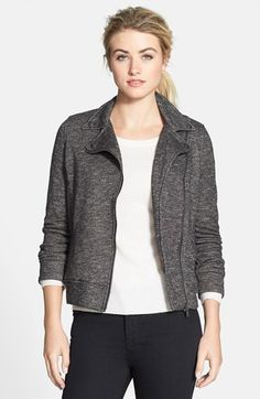 DEX French Terry Moto Jacket available at #Nordstrom