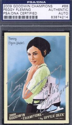 2009 Goodwin Champions Peggy Fleming autograph