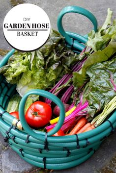 Upcycle a Garden Hose Into a Harvesting Basket --> http://www.hgtvgardens.com/diy-garden-projects/garden-hose-basket-how-to?soc=pinterest