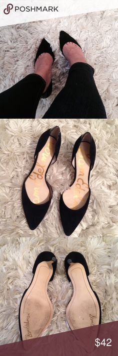 Sam Edelman Black Suede Pump Great condition!  No flaws- Classy and simple perfect pump! ❌Trades but I consider reasonable offers! Sam Edelman Shoes Heels