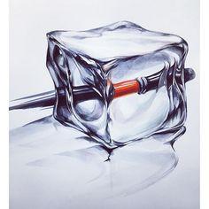 얼음(자연물) & 붓