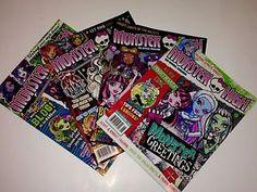 Monster High 2015 Magazine Lot of 4 New Great for Stocking Stuffers | eBay