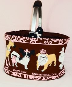 Poochie market tote!!! Um so cute!!! can be personalized! $16.95