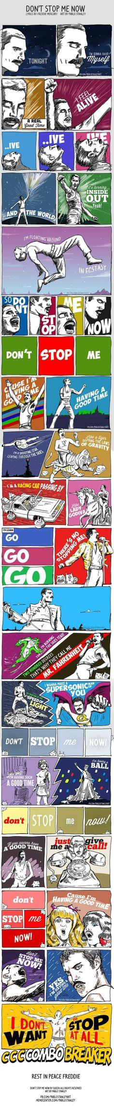 Dê play e acompanhe esta fantástica ilustração de Pablo Stanley - Don't stop me now/Queen