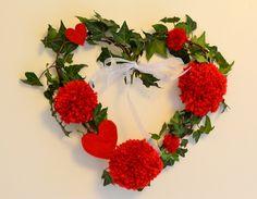 couronne de porte, décoration st valentin