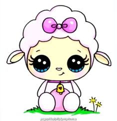 Distinctive and Artistic Cute sheep kawaii You are in the right place about Art Drawing hair Here we offer you the most beautiful pictures about. Doodles Kawaii, Cute Kawaii Drawings, Cute Doodles, Cute Animal Drawings, Cartoon Drawings, Easy Drawings, Kawaii Disney, Anime Kawaii, Arte Do Kawaii