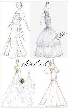 wedding dress sketches :)