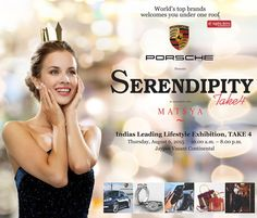 The main attraction for #Serendipity #Take 4 will be Porsche luxury cars and their fashion apparels at display, along with some of the world's best brands like #Versace, #Gucci, #Missoni,#EmillioPucci & #RobertoCavalli. To connoisseurs' delight, Serendipity Take 4 will showcase, Luxury Brands, Designer bags like (#Goyard,#YvesSaintLaurent, #Gucci, #Miu-Miu, #JimmyChoo #Prada ) Couture Jewelry, Heritage Accessories, Indian Bridal Ensemble, Haute Silhouettes, Flamboyant Menswear, Kids Haute…