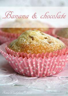 Unavená vařečka: Muffin... banány a čokoláda... Breakfast, Food, Morning Coffee, Meal, Essen, Hoods, Meals, Morning Breakfast, Eten