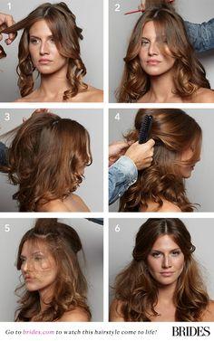 You can #DIY this glamorous wedding hairdo! | Brides.com
