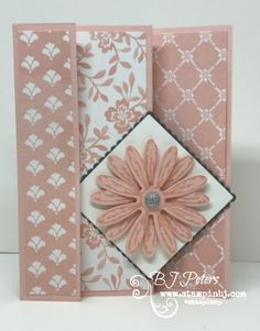 Check out this M fold Mothers Day card using the Succulent Garden designer series paper. Oh so pretty! I love a special fold card for those special occasions! Here's the inside! I love how this design really showcases the designer series paper and creates a keepsake that will be proudly …