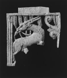 Openwork plaque with an oryx eating a plant beside a tree Period: Neo-Assyrian Date: ca. 9th–8th century B.C. Geography: Mesopotamia, Nimrud (ancient Kalhu) Culture: Assyrian Medium: Ivory Dimensions: 5 x 4.69 x 0.43 in. (12.7 x 11.91 x 1.09 cm) Classification: Ivory/Bone-Reliefs Credit Line: Rogers Fund, 1958 Accession Number: 58.31.3