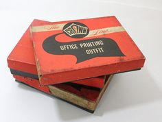 Vintage Fulton Office Printing Rubber Type Outfit by VintageTypes, $36.00