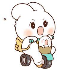 Cute Bear Drawings, Cute Animal Drawings Kawaii, Cute Cartoon Drawings, Cute Cartoon Images, Cute Love Cartoons, Cartoon Gifs, Cute Love Gif, Cute Cat Gif, Funny Cute