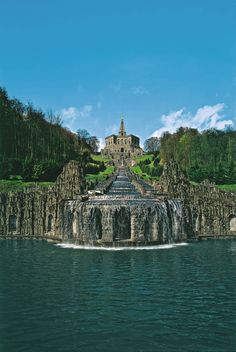 Covering 240 hectares in the north Hessen city of Kassel, baroque Wilhelmshöhe Park is designed in the style of an English landscape garden and is Europe's largest hillside park.
