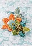 Kanzashi Fabric Flowers Pattern Tutorial ... Flower Pattern no. 2