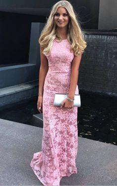 pink lace long prom dress, gorgeous mermaid pink #prom #promdress #dress #eveningdress #evening #fashion #love #shopping #art #dress #women #mermaid #SEXY #SexyGirl #PromDresses