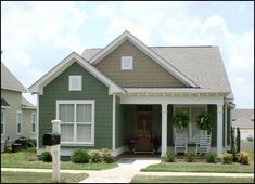Front Elevation Photo of this Cottage House ( at The Plan Collection. Master bath needs work Cottage Style House Plans, Cottage Style Homes, Cottage House Plans, Cottage Design, House Design, Cottage Decorating, Decorating Ideas, Decor Ideas, Modern Cottage Style