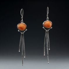 Thistle and Stone Earrings by rebeccabashara on Etsy