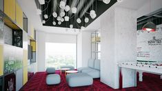Geometric shapes in different colors  Name: PWC Category: Office  Renders: IVA STUDIO Concept: Prographic Architecture Studio