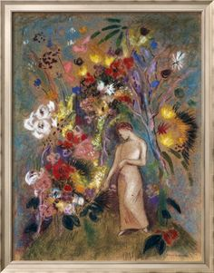 Woman in Flowers, 1904 Giclee Print by Odilon Redon - AllPosters.co.uk