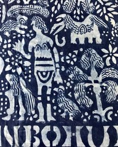 "Karuncollection on Instagram: ""Adire cloth detail, Nigeria, starch resist indigo dyed cotton. Shortlisting textiles for my next show at @bruneigallery, SOAS, on African…"" African Textiles, Indigo, Symbols, Detail, Prints, Pattern, Cotton, Clothes, Collection"