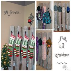 Cute way to hang our Christmas stockings