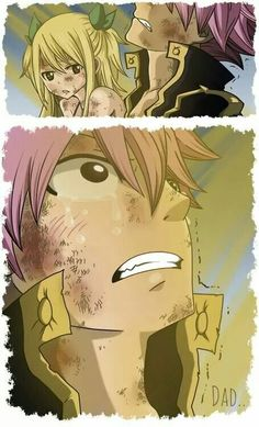 Nalu<<< this is when you kiss him Lucy Fairy Tail Funny, Fairy Tail Natsu And Lucy, Fairy Tail Love, Fairy Tail Nalu, Fairy Tail Ships, Me Anime, Anime Fairy, Anime Manga, Natsu Y Lucy