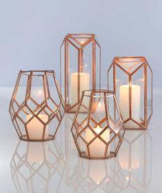 Trendy Copper. Boho Chic. Farmhouse. Lanterns.