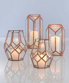 Trendy Copper. Boho Chic. Farmhouse. Lanterns.