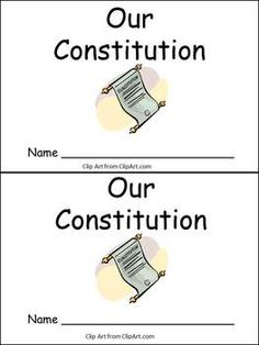 Constitution Day little book- very easy for early readers in kindergarten- both color and black and white versions $