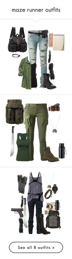 """maze runner outfits"" by gone-girl ❤ liked on Polyvore"