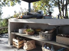 An outdoor kitchen can be an addition to your home and backyard that can completely change your style of living and entertaining. Earlier, barbecues temporarily set up, formed the extent of culinary attempts, but now cooking outdoors has become an. Outdoor Bar, Outdoor Decor, Garden Living, Kitchen Decor, Outdoor Kitchen, Outdoor Rooms, Summer Kitchen, Outdoor Living Rooms, Outdoor Furniture Sets