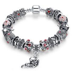 Alibaba Hot Sell Fish Charm Bracelet Chamilia Bracelet 925 Tibetan Silver Murano Glass For Women Jewelry Fashion Bracelets, Bangle Bracelets, Fashion Jewelry, Women Jewelry, Fashion Fashion, Pandora Bracelets, Beaded Bracelet, Fashion Tips, Moda China