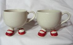Cups made in England Walking Ware by Carletonware, England