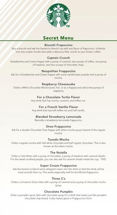 #Starbucks Secret Menu! (Check out The Nutella and die happy.) good-to-know