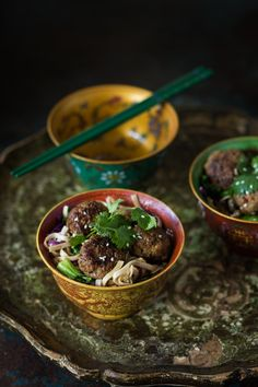 Thai Meat Balls with noodles