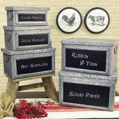 We just love these practical, lidded storage boxes! They have such a great urban…
