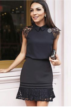 """""""Vestidos Informales"""" ~~Rosario Contreras~~ - All Hair Styles Trendy Dresses, Cute Dresses, Trendy Outfits, Short Dresses, Maxi Dresses, Work Outfits, Fat Fashion, Modest Fashion, Fashion Dresses"""