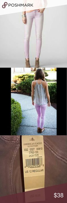 American Eagle Outfitters Jeggings Faded lavender. Low rise. Regular length. NWT! American Eagle Outfitters Jeans Skinny