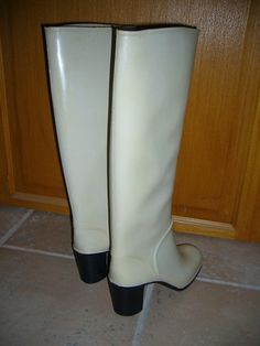 Heeled Rain Boots, High Heel Boots, High Heels, Riding Boots, Shoes, Fashion, Black Boots, Black, Red Boots
